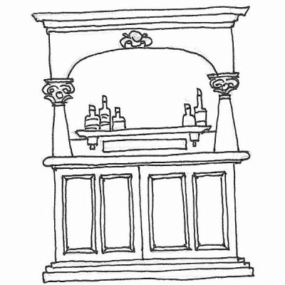 drawing of custom bar